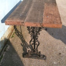 Hardwood topped 'lifetime' Garden Table