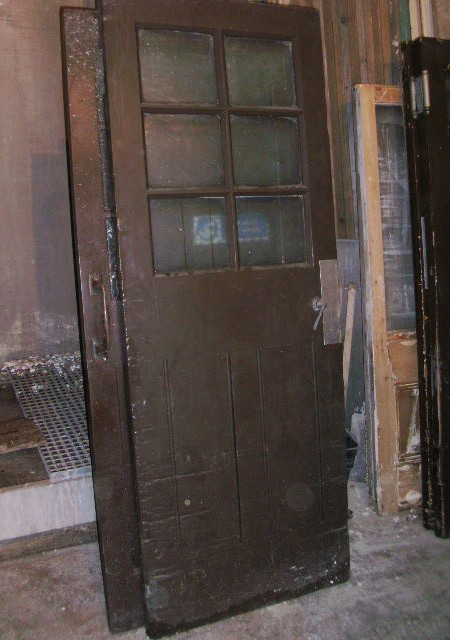 Pair Swinging double doors and hinges 54 1/4 inch x 82 1/2 inch x 2 inch thick