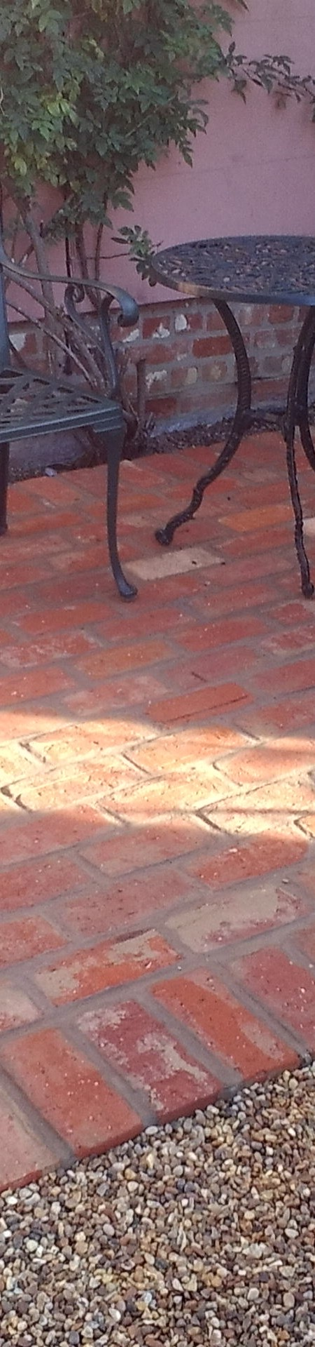 Suffolk Red wirecut brick patio