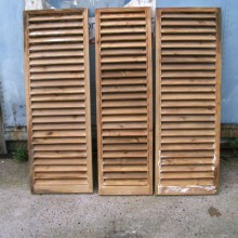 slatted window shutters set 3