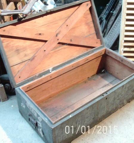 Vintage work chest trunk