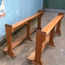 Church kneeling pews - pair