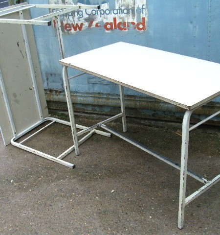 School desks - vintage metal framed 12 available