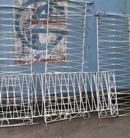 Iron balustrade or railings - decorative 24ft run