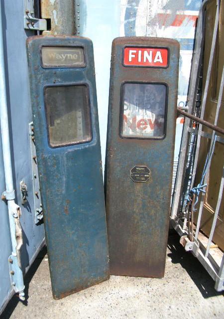 Fina vintage petrol pump fascias and dials
