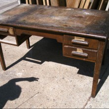 Oak vintage tables - needs refurbing