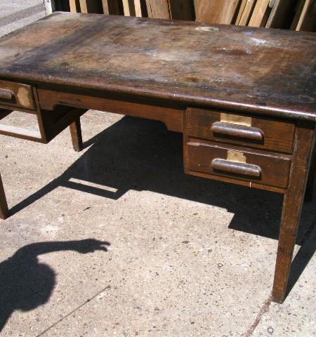 Oak vintage tables - needs refurbing
