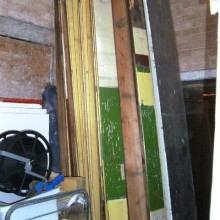 Wall panelling , painted pitch pine qty available