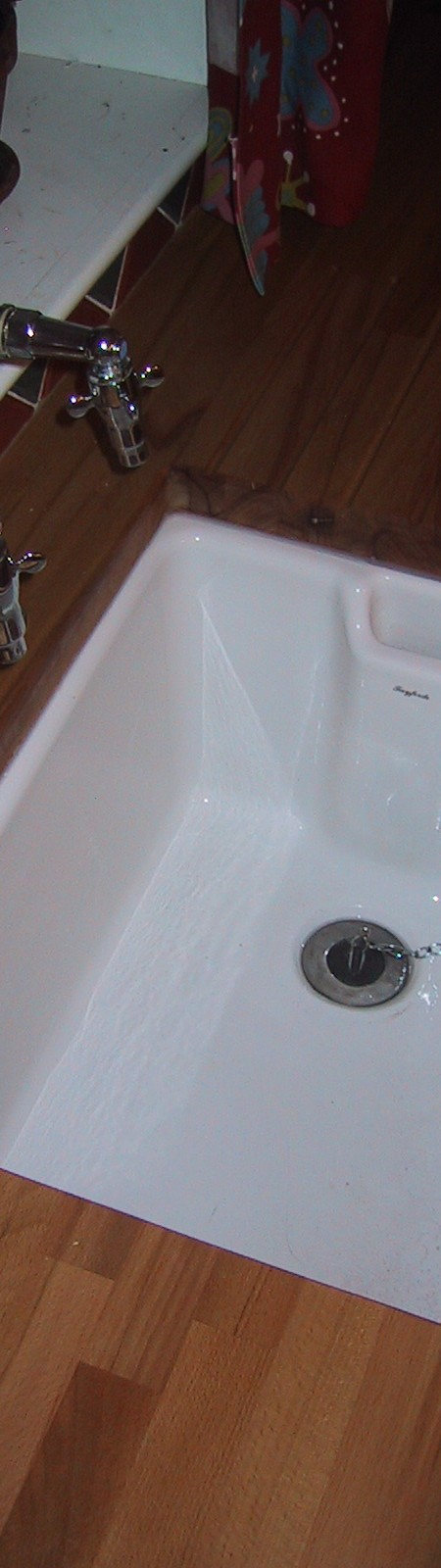 butler sink and period taps