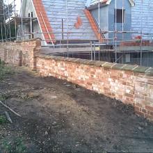 reclaimed brick wall