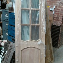 New oak unused part glazed door 27