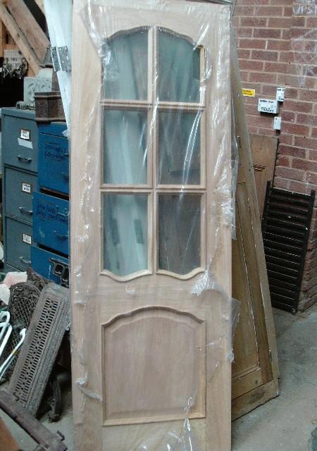 New oak unused part glazed door 27