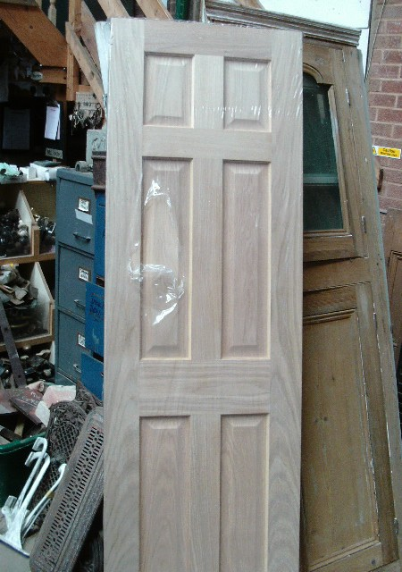 New 6-panel oak door 24