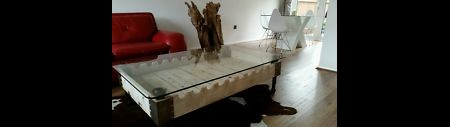 French rifle pallet coffee table