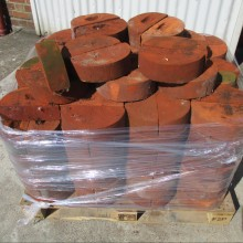 Suffolk Red half round copings 220x110x95