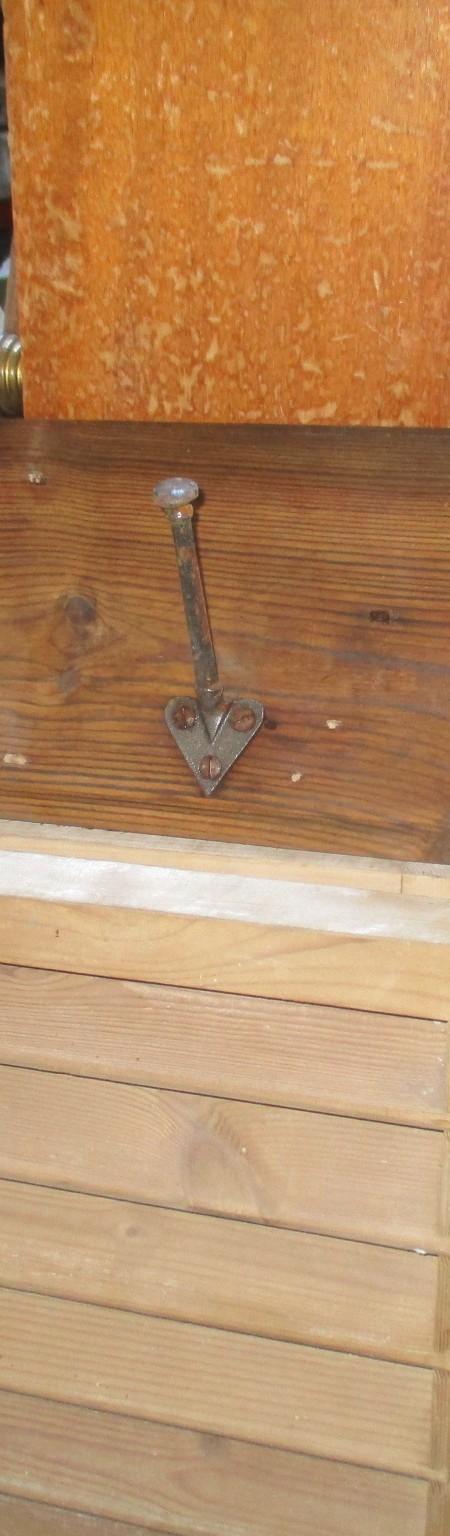 set 3 coat hooks on original board
