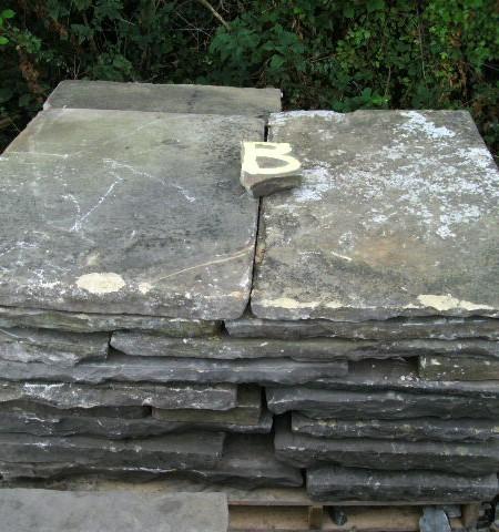 Reclaimed Yorkstone slabs
