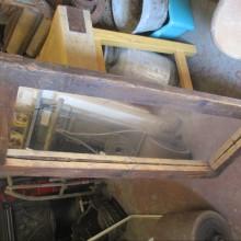 Rustic chunky pine mirror