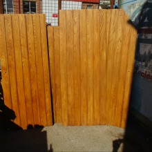 Set 4 OAK ledged and braced doors