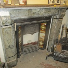 Grey Marble Fire Surround