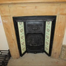 Flowered tiled insert and surround SOLD