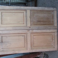 Pair pine cupboard doors 40