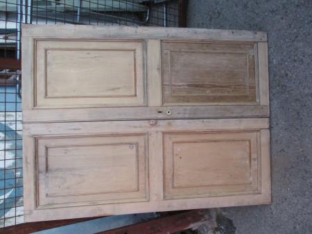 Pair pine cupboard doors 40