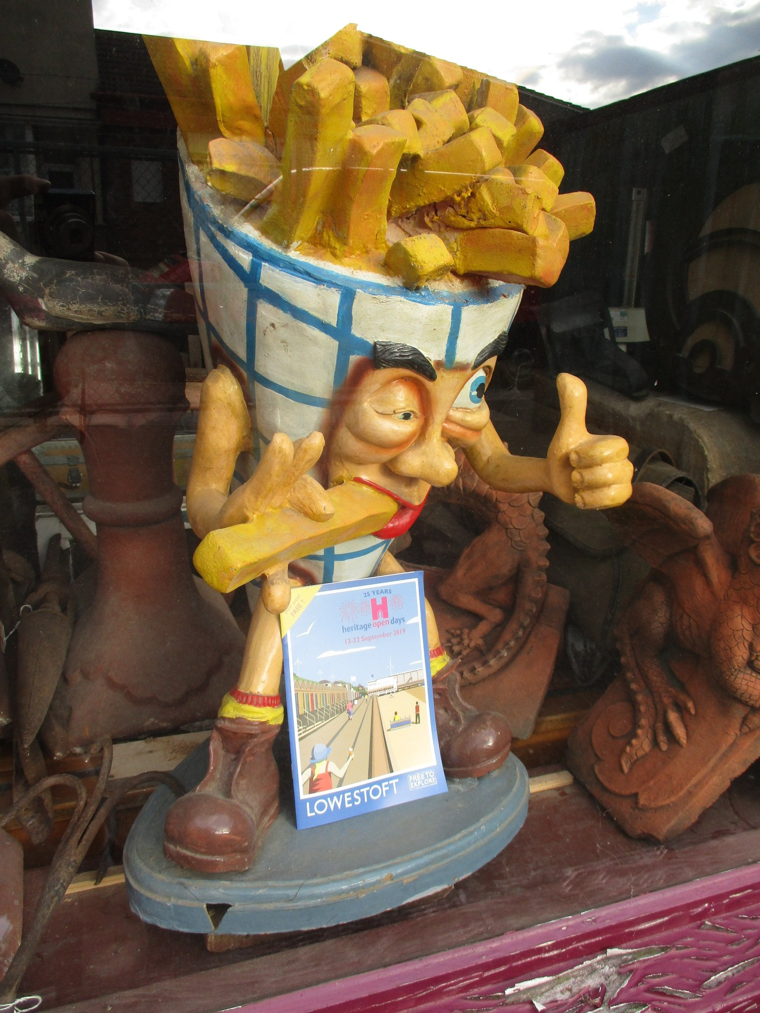 Mr.Chips advertising statue