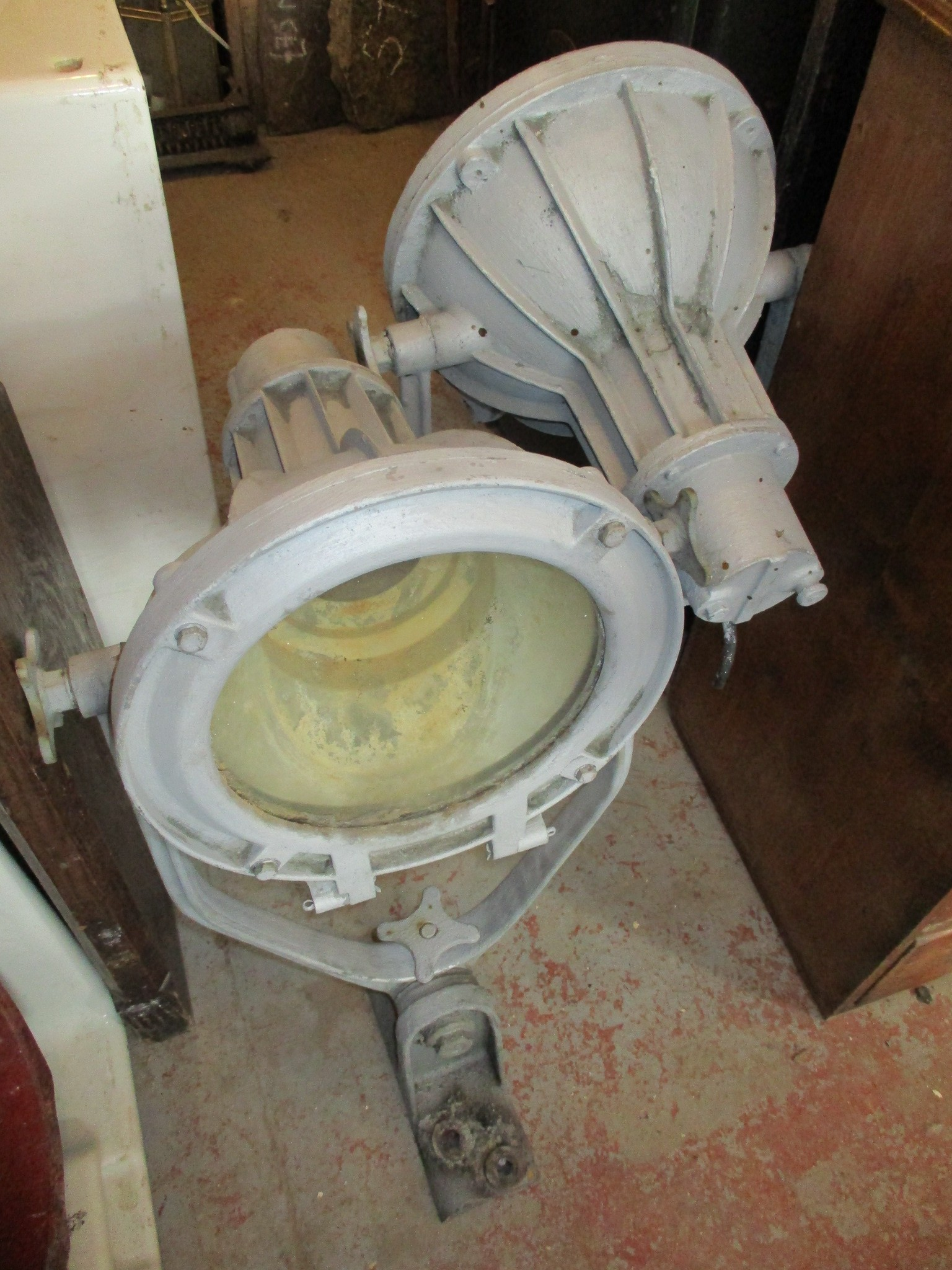 Large pair of industrial angle lights