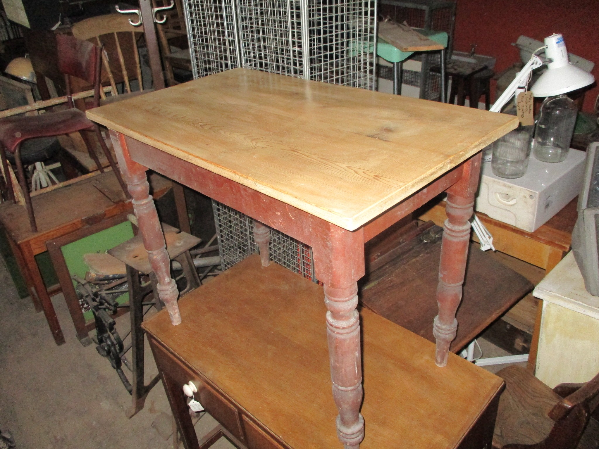 refurbished period pine table 35