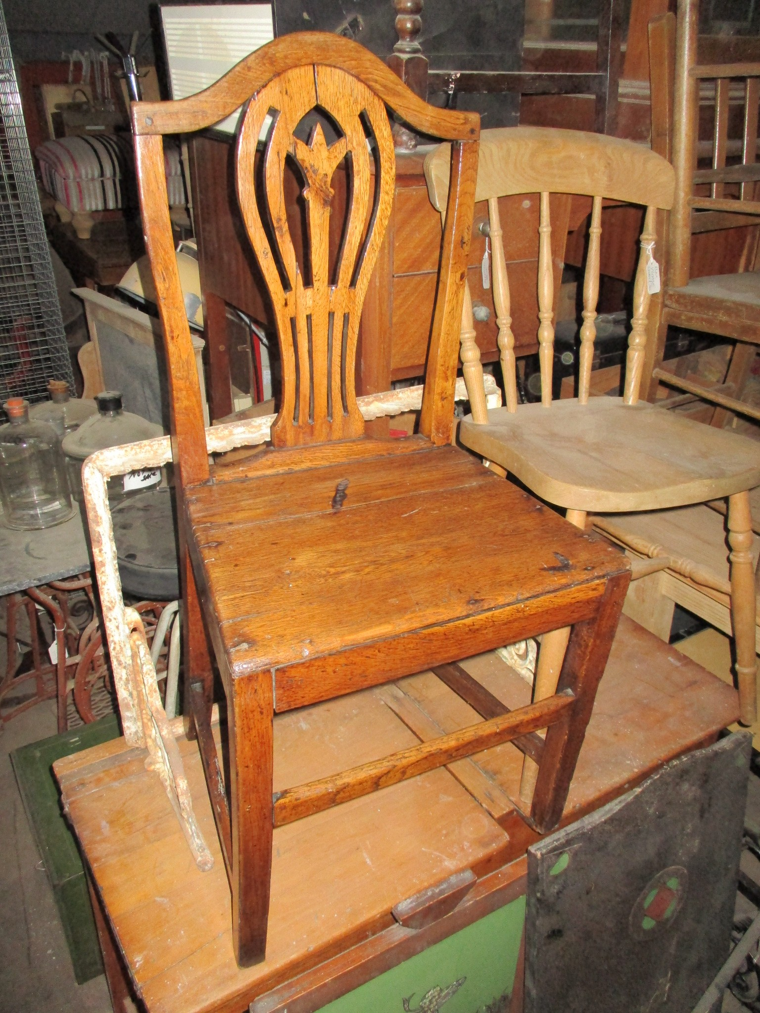 Old wooden chairs always in stock