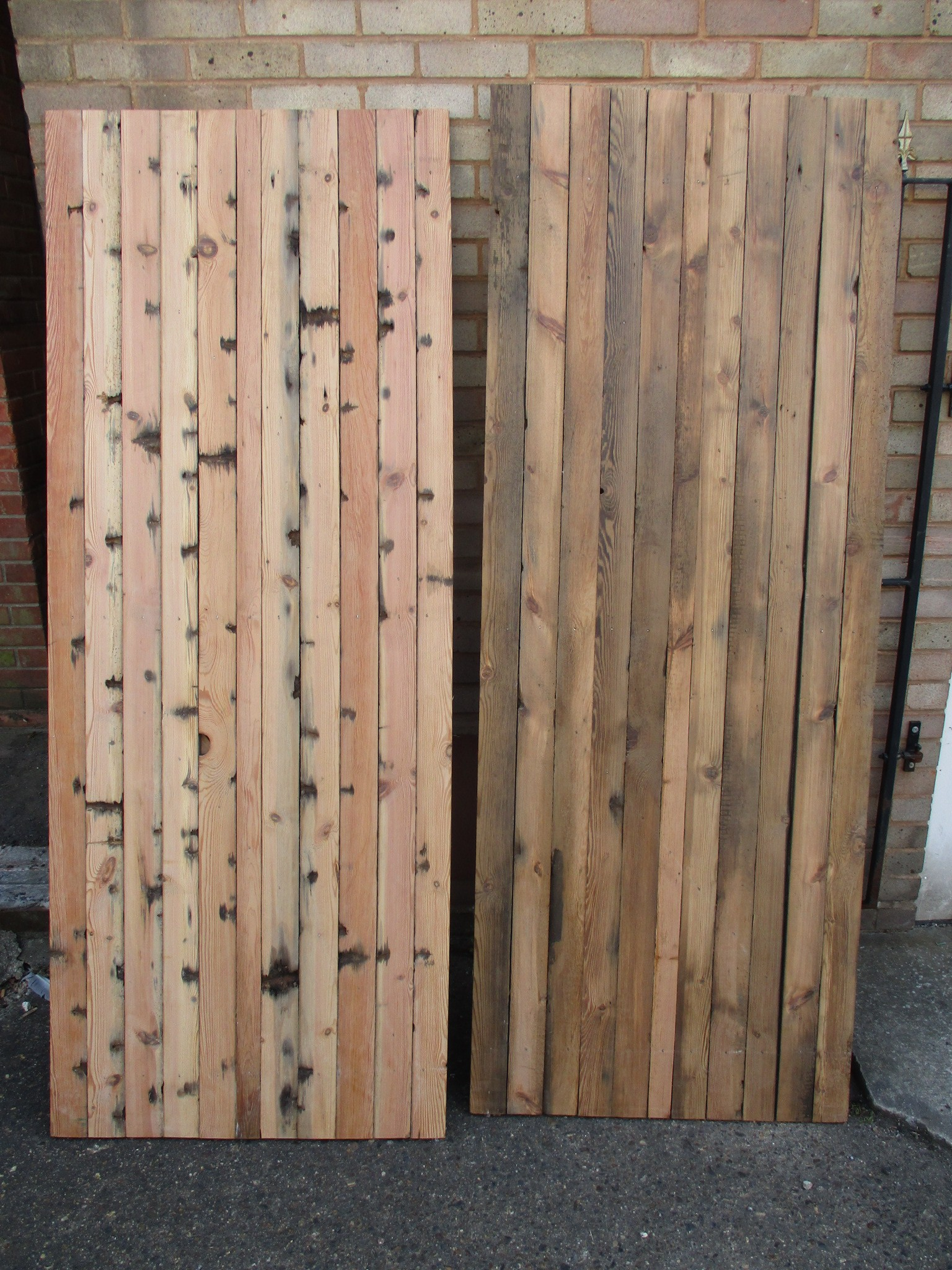 Plank doors made to order - any size possible using reclaimed timber