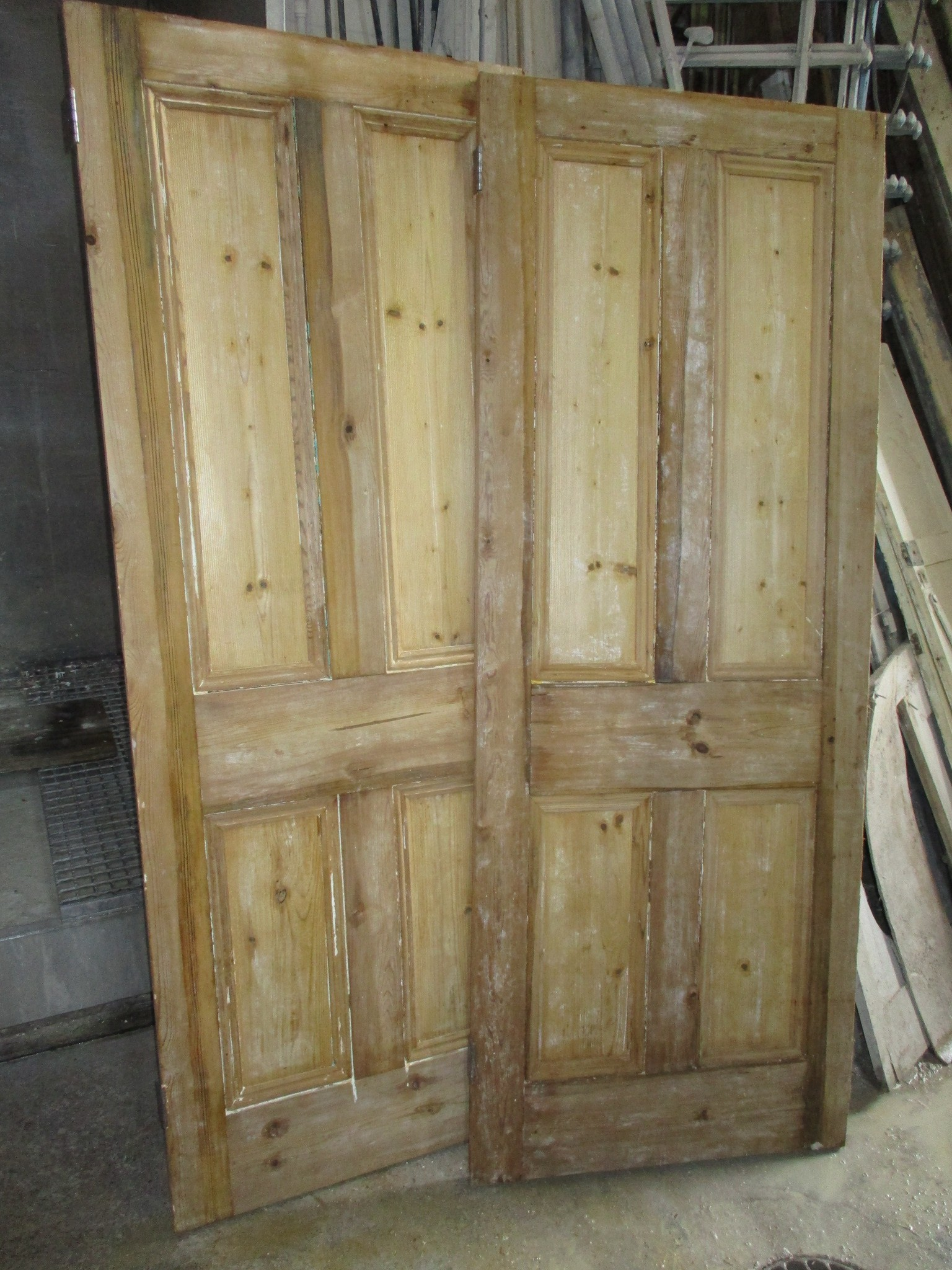 Sets of 4-panel Victorian doors in stock