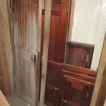 Mahogany Boat cupboard doors and frames - assorted sizes