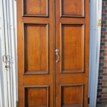 Large pair Oak entrance doors 52