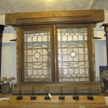 Leaded glass oak window from Bawdsey Manor