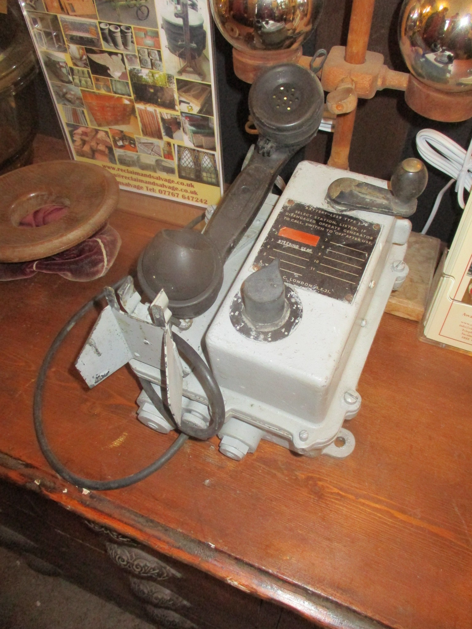 Boat ( TMC of London) hand cranked telephone