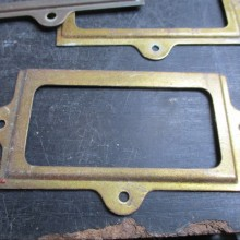 metal brass nameplate holders