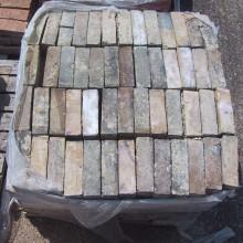 White - Blackened external wall Imperial white bricks