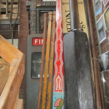 Fairground decorative hand painted oil on wood side show uprights , 6 available