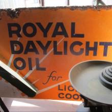 Royal Daylight Oil double sided enamel sign