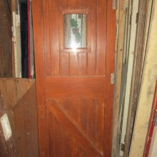 ledged braced and framed door with leaded glass