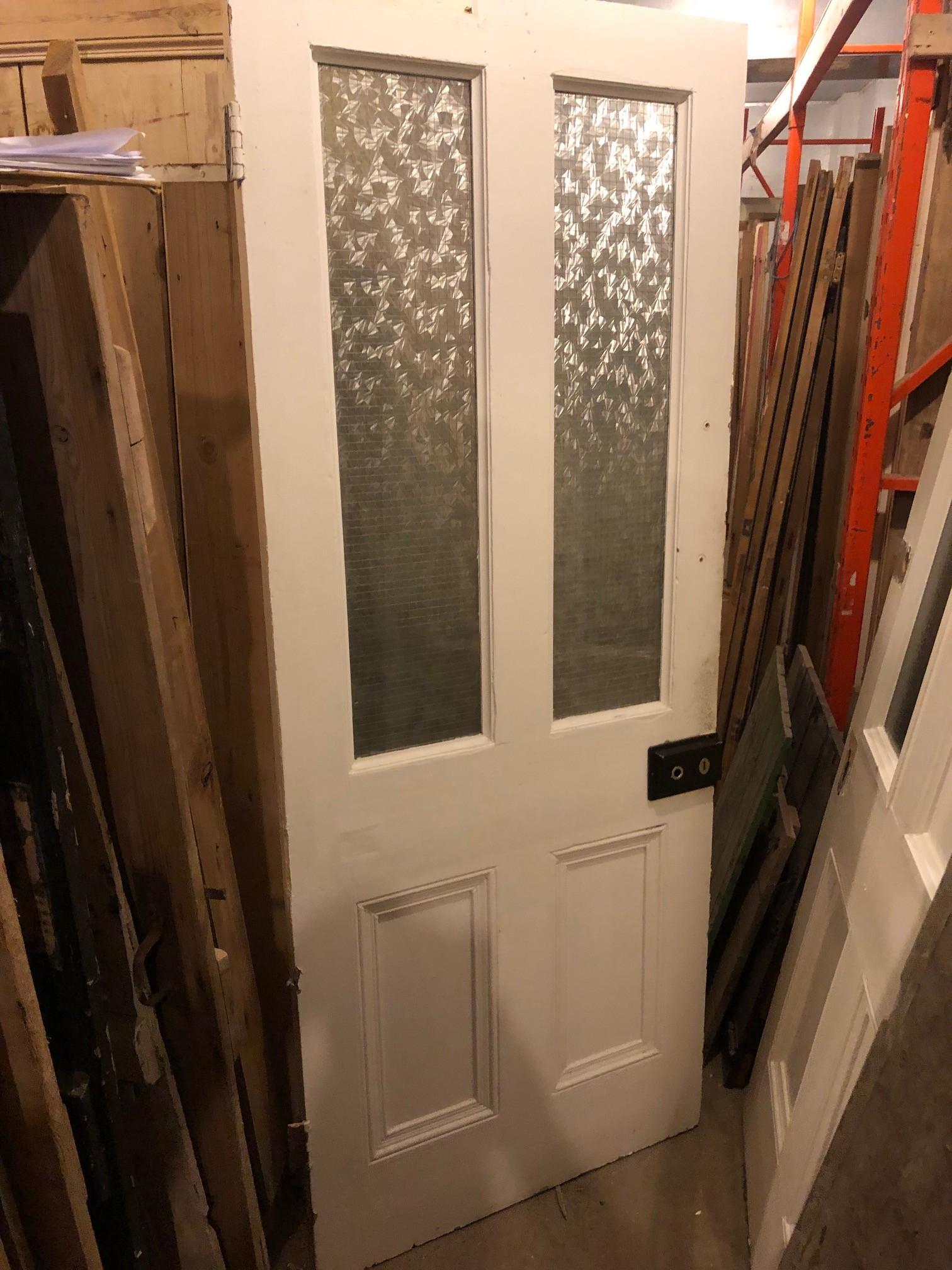 Glazed Victorian four panel door 32