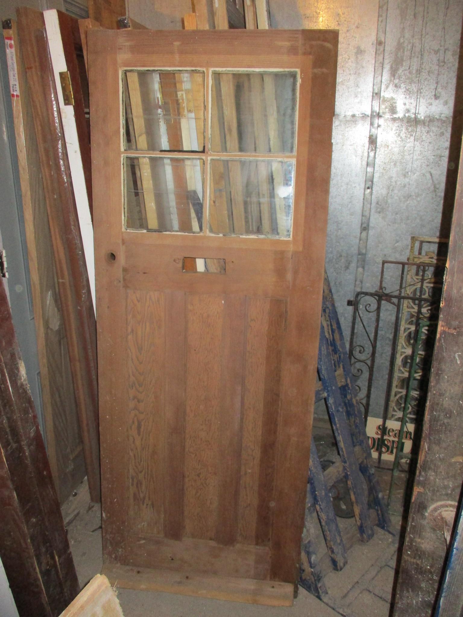 Art Deco 1930's period part glazed front door 30