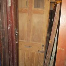 6 panel door part-glazed 33 1/2