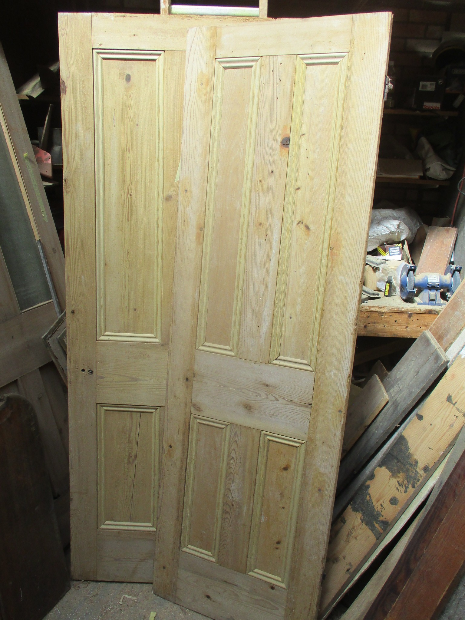 Plain 4 panel doors can be beaded to produce 'matching sets'