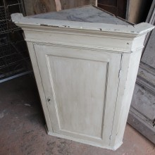 corner cabinet , painted pine 22