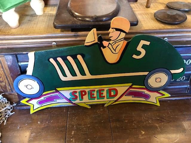 Car - 'Speed' Fairground signage