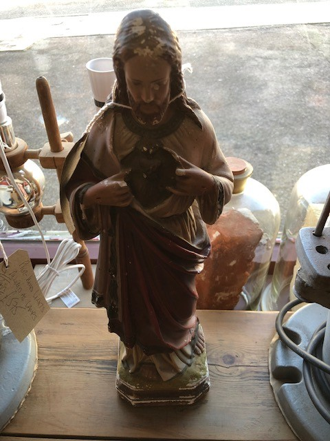 Jesus statue in plaster