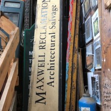 Maxwell Reclamation Painted signage